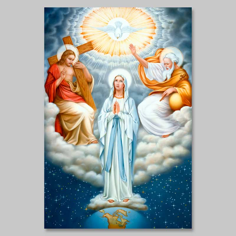 photo of mary in the trinity