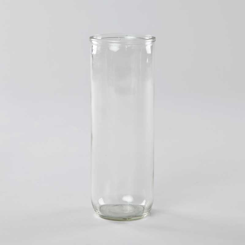 5-day votive lamp glass holder - transparent