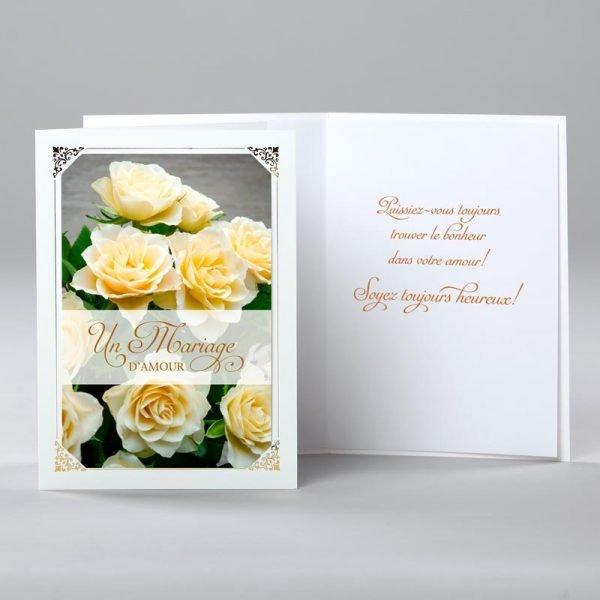 carte mariage - un mariage d'amour