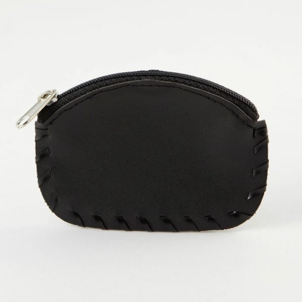 woven black leather rosary case