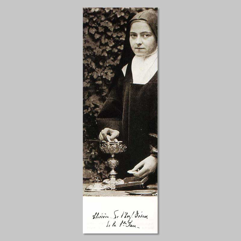 bookmark - thérèse as sacristan