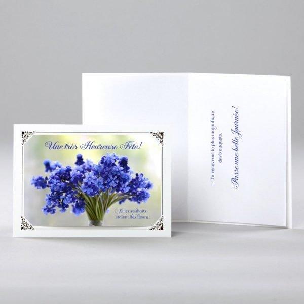 carte anniversaire - des souhaits en fleurs