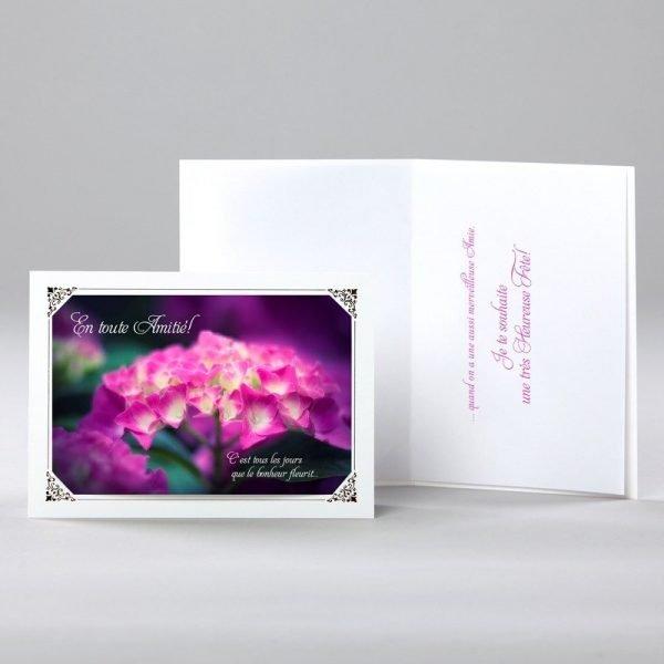 carte anniversaire - le bonheur fleurit