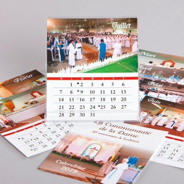 calendar 2019 - the community of the lady- CD size - sheets