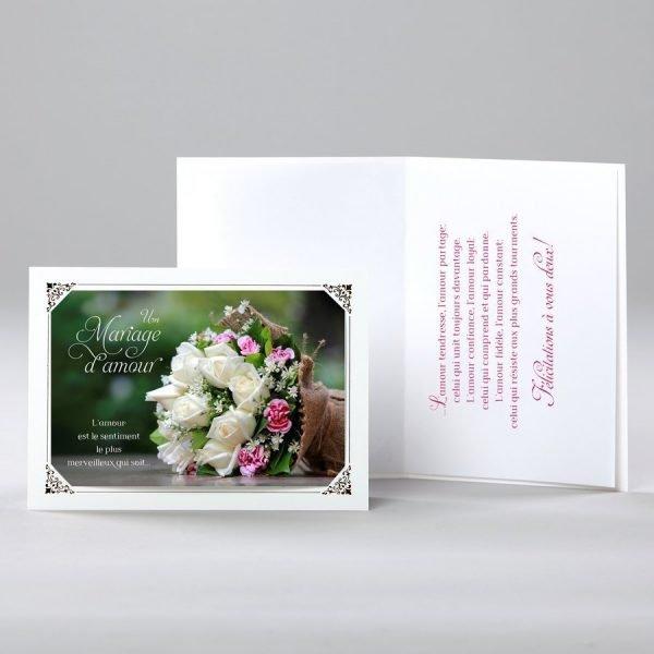 carte de mariage - un sentiment merveilleux