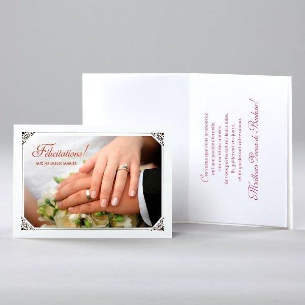 carte de mariage - les heureux mariés
